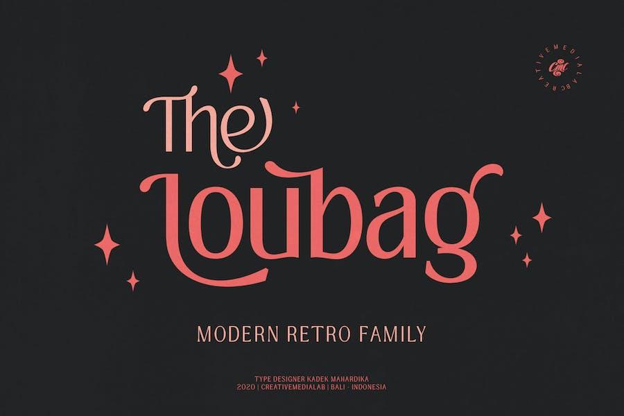 Loubag - Familia Retro Moderno