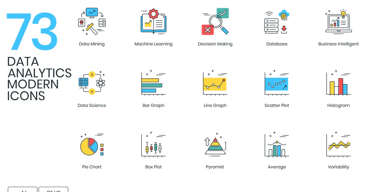 Download Data Analytics Modern Icons by Krafted