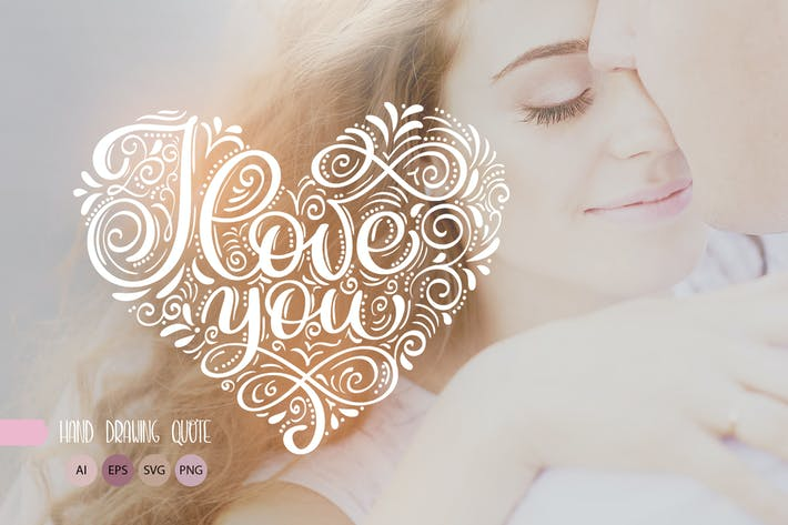 Thumbnail for I Love You Vector Valentine Quote