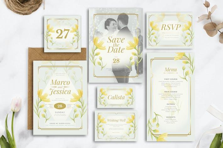 Elegant Yellow Flower - Wedding Invitation