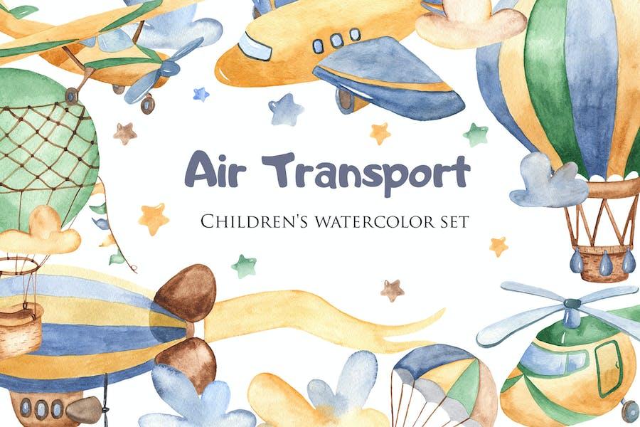 Watercolor Air Transport