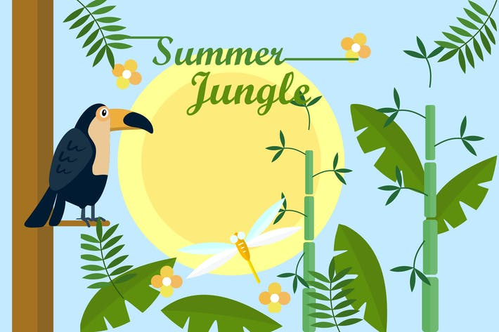 Thumbnail for Summer Jungle - Illustration Background