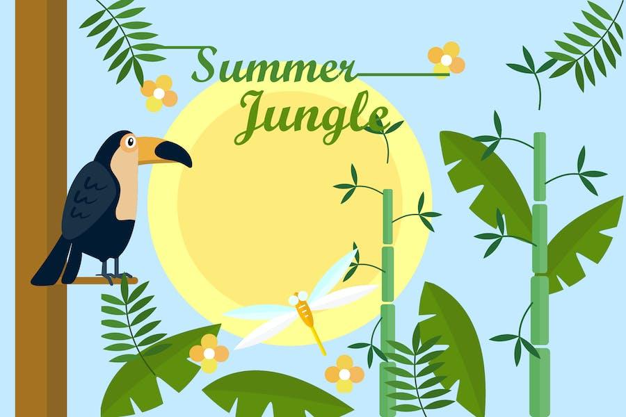 Summer Jungle - Illustration Background