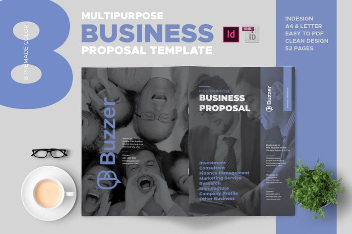 Thumbnail for Buzzer - Clean and Professional Business Proposal