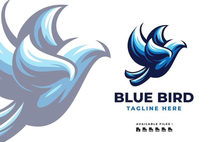 Blue Bird Elegant Logo