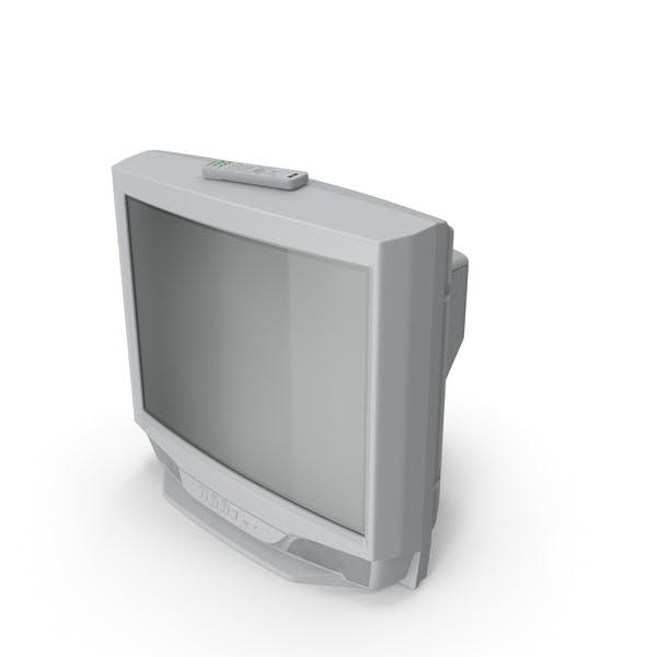 Vintage 00s CRT-TV mit IR-Steuerung aus