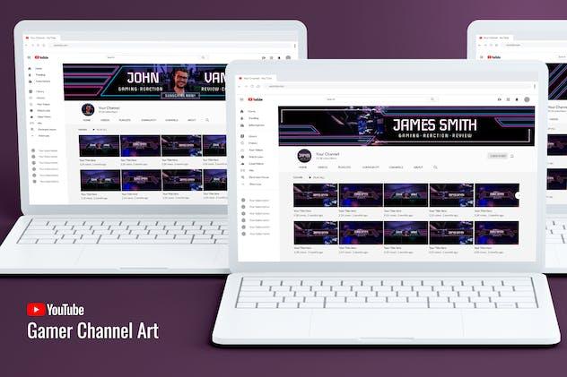Gamer Youtube Channel Art