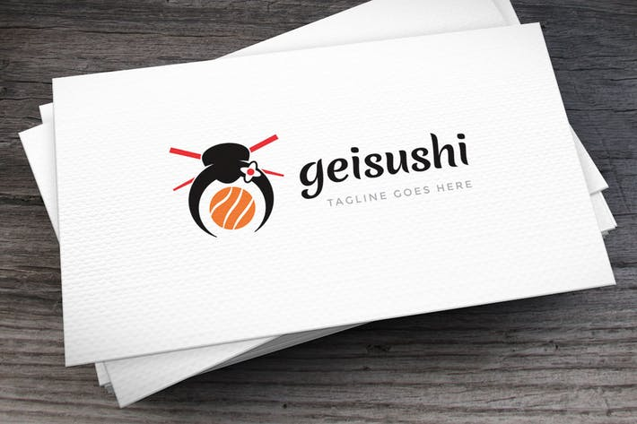 Thumbnail for Geisha Sushi Logo Template