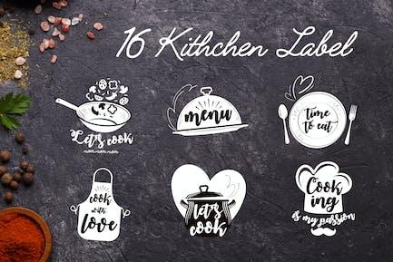16 Küchenetiketten