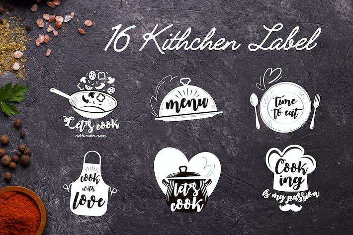 Thumbnail for 16 Kitchen Labels