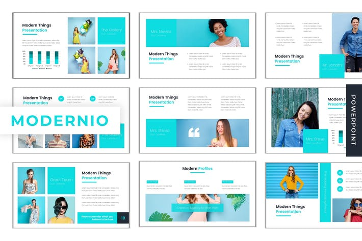 Thumbnail for Modernio - Powerpoint Template