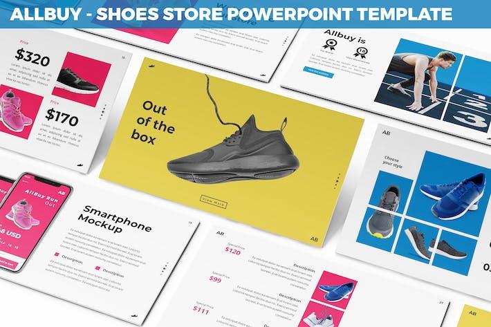 Thumbnail for Allbuy - Zapatos Tienda Powerpoint Plantilla