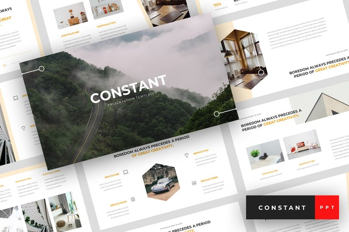 Cover Image For Constant - Creative PowerPoint Template
