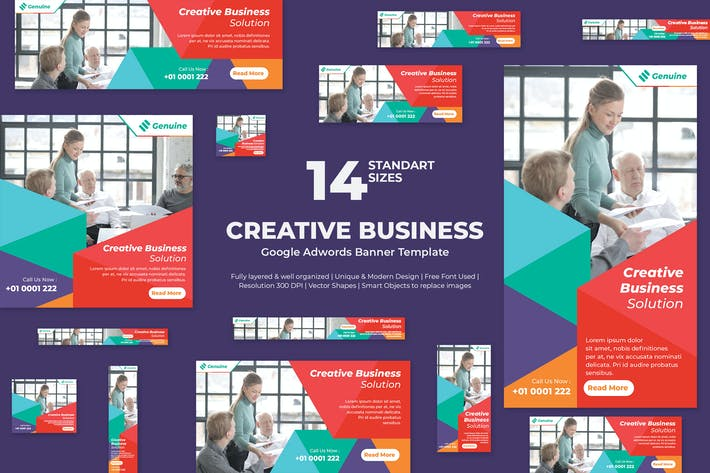 Thumbnail for Creative Business Google Ads Banners