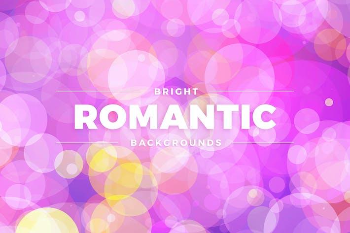 Helle romantische farbige Hintergründe