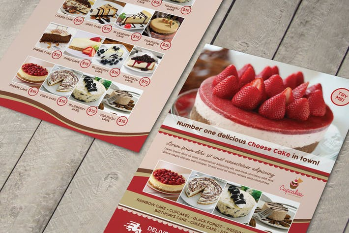 Thumbnail for Cake Menu Flyer