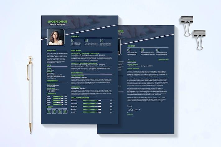 Thumbnail for Modern Resume & Cover Letter