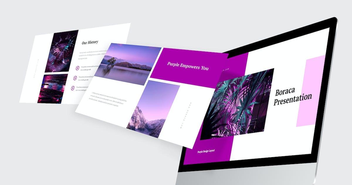 Download Boraca - Purple Pitch Deck Powerpoint by Madlistudio