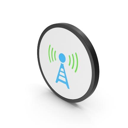 Icon Antenna Blue Green