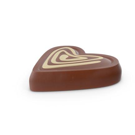 Herz Schokoladen-Süßigkeit mit Cheesecake-Linie