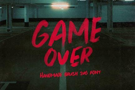 Game Over Brush y fuente SVG