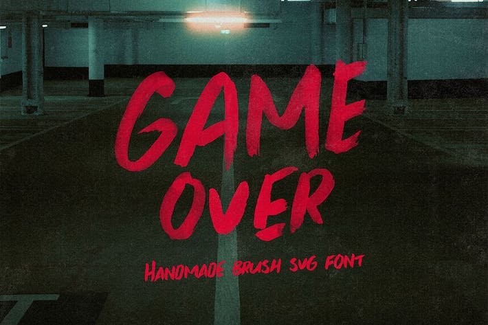 Thumbnail for Game Over Brush y fuente SVG