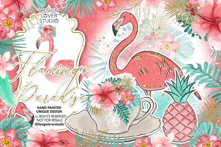 Thumbnail for Flamingos Paradise design