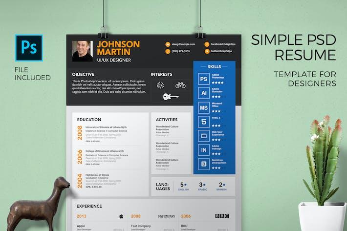 Thumbnail for Modèle de CV simple et lettre de motivation