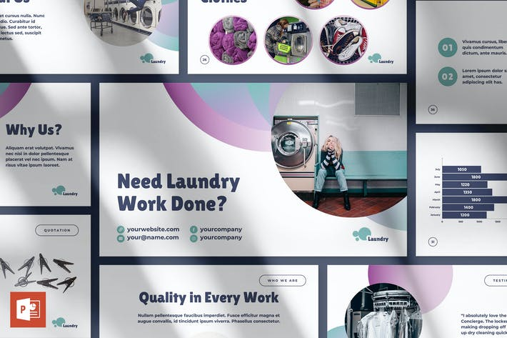 Thumbnail for Laundry PowerPoint Presentation Template