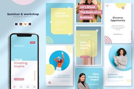 Seminar & Workshop Pinterest Template