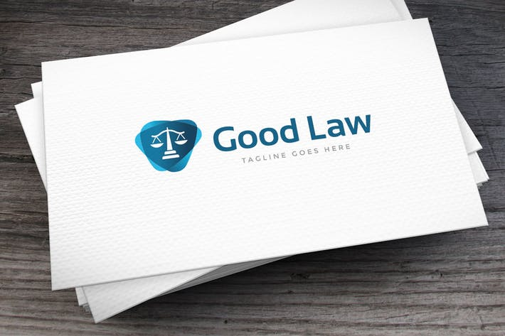Thumbnail for Good Law Logo Template