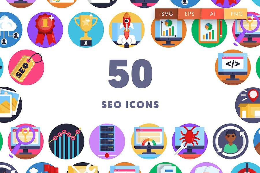 50 SEO Icons