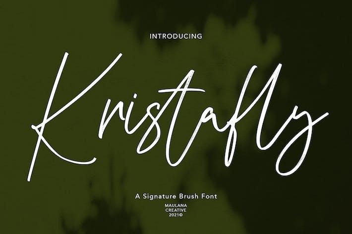 Шрифт фирменной кисти Kristafly