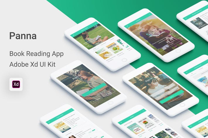 Thumbnail for Panna - Book Reading UI Kit for Adobe XD