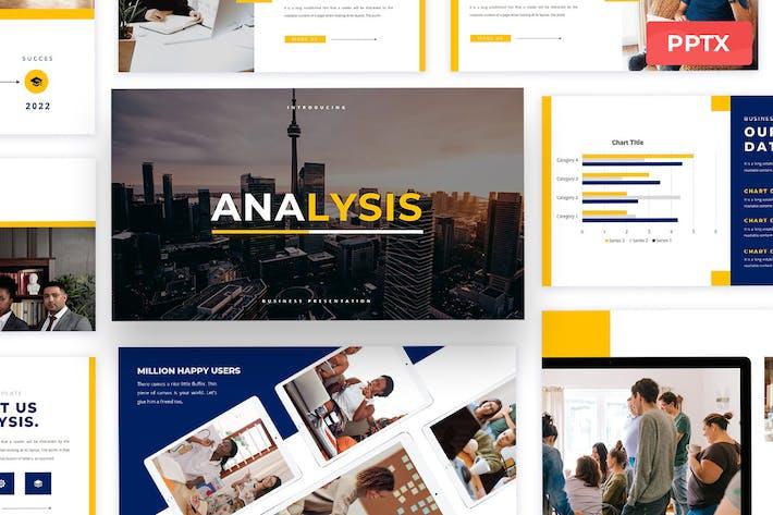 Анализ - Шаблон презентации Powerpoint