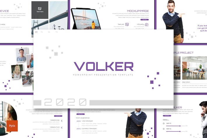 Thumbnail for Volker - Business Powerpoint Template