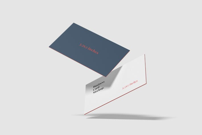 Flying style business card mockup