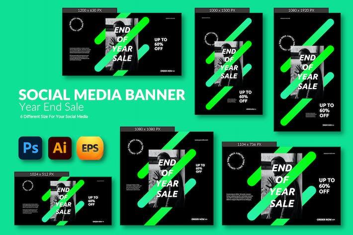 December End Sale – Social Media Banner Template