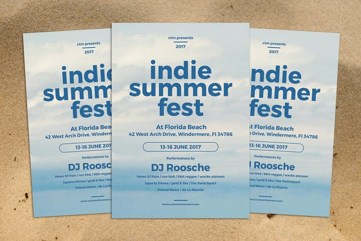 Thumbnail for Indie Summer Fest Flyer