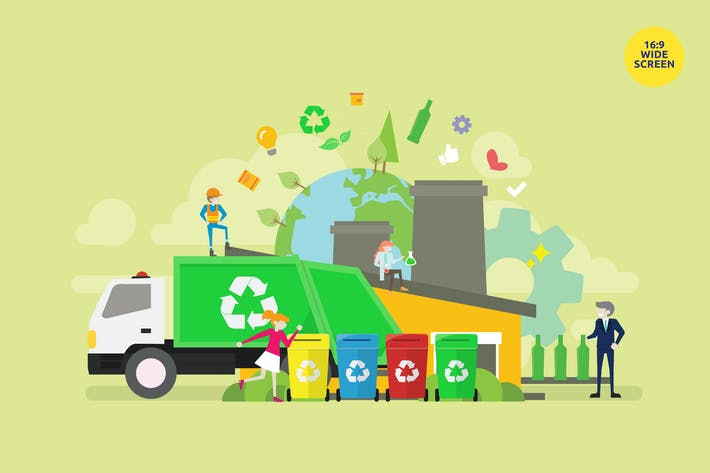 Thumbnail for Organic Waste Recycle Process Vector Concept