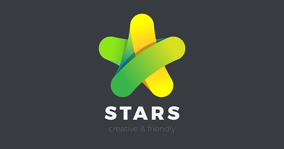 Download Star Logo design vector Friendly Media style by Sentavio