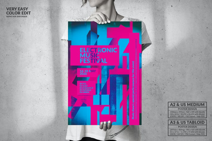 Thumbnail for Electronic Music Party Session - Big Poster Design