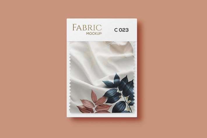 Fabric Swatches Mockup