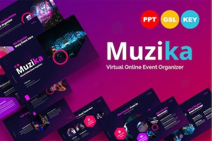 Muzika Online Event Organizer - Presentation