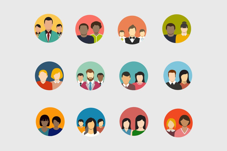 Download 12 Group Avatar Icons by creativevip