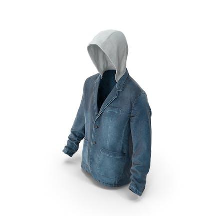 Jeansjacke für Herren Dunkelblau