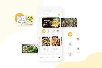 Home Food Delivery Mobile UI Kit nft