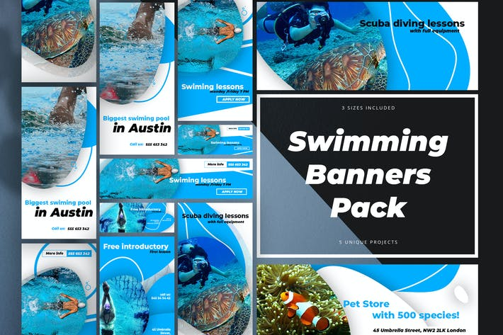 Thumbnail for Swimming Banner Pack