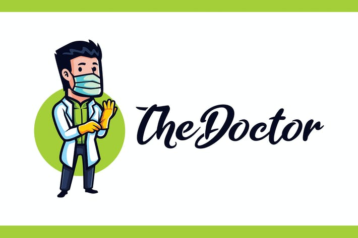 Thumbnail for Doctor Mascot - Medical and Healthcare Logo