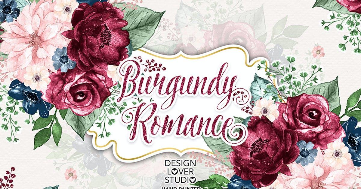 Download Burgundy Romance design by designloverstudio